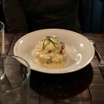 The smoked Haddock dish