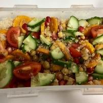 Quinoa salad with butternut squash & pomegranate seeds