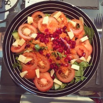 Salad with pomeg seeds & cheese