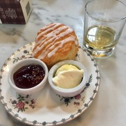 Scone and Whiskey enjoyed in the Castle tea rooms
