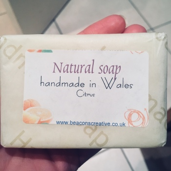 Christmas present soap