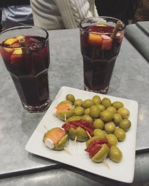 Sangria and olives