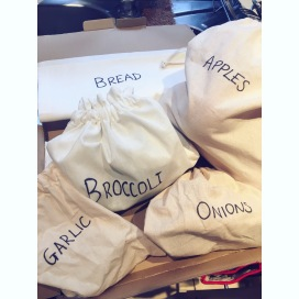 My cotton produce bags