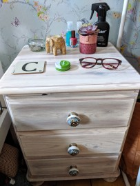 Secondhand bedside table